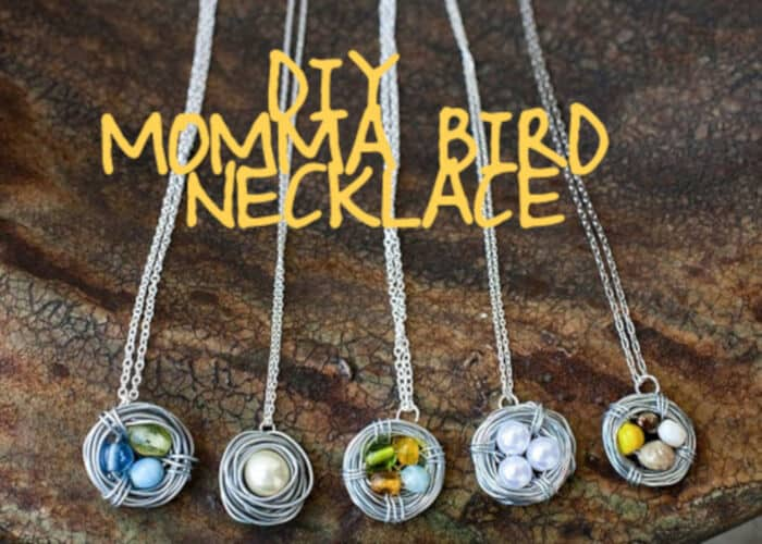 DIY Momma Bird Necklace by Love Stitched
