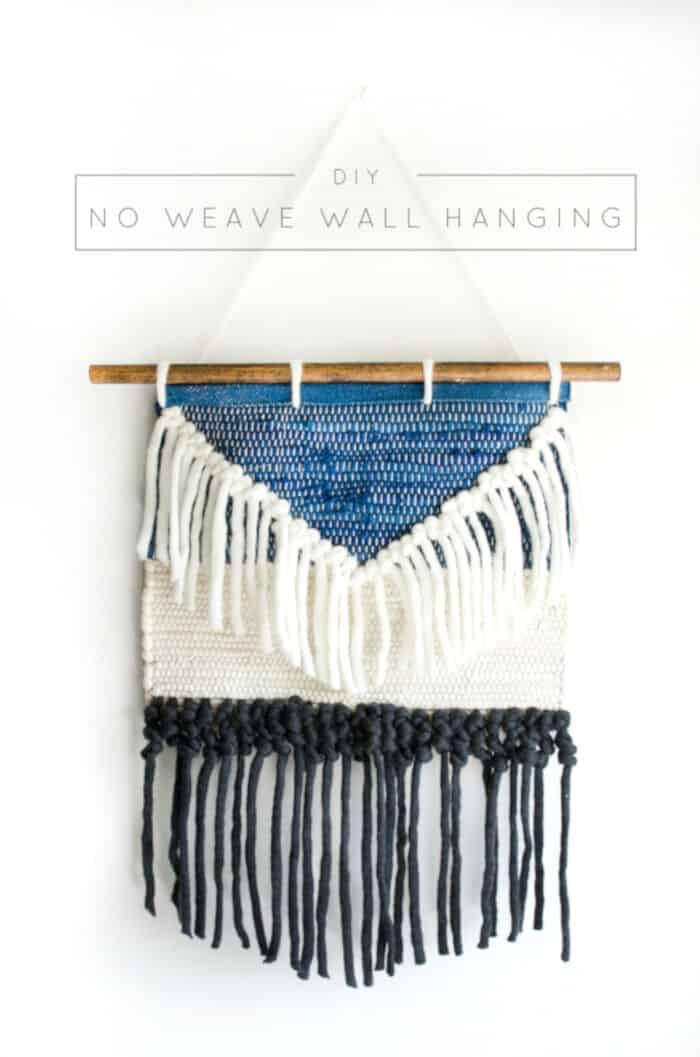 DIY No Weave Wall Hanging by Brepurposed