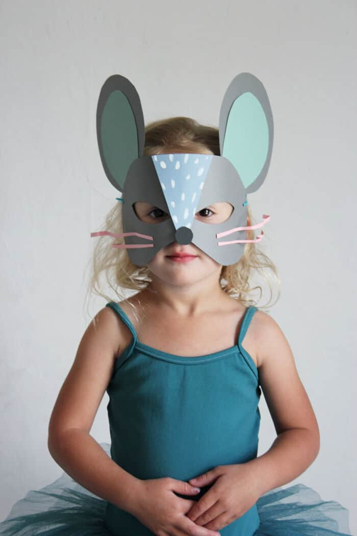 DIY Paper Cat and Mouse Masks by Mer Mag