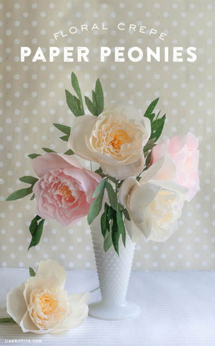 DIY Paper Peonies by Lia Griffith