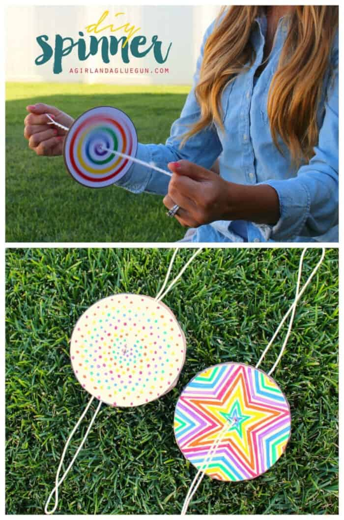 DIY Paper Spinner for Endless Fun by Make and Takes