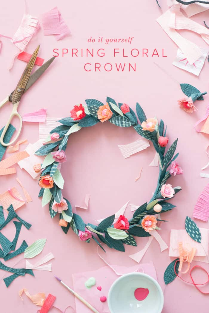 DIY Paper Spring Floral Crown by The House That Lars Built