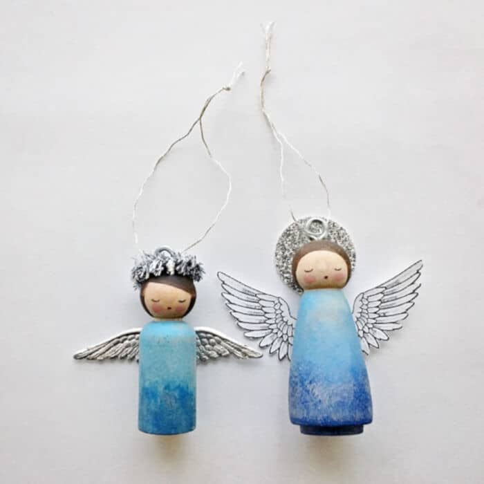 DIY Peg Doll Angel Ornament by Hello Wonderful