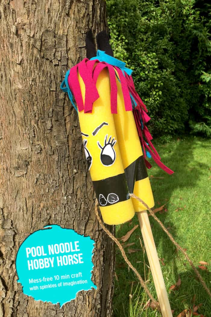 DIY Pool Noodle Hobby Horse by MollyMooCrafts