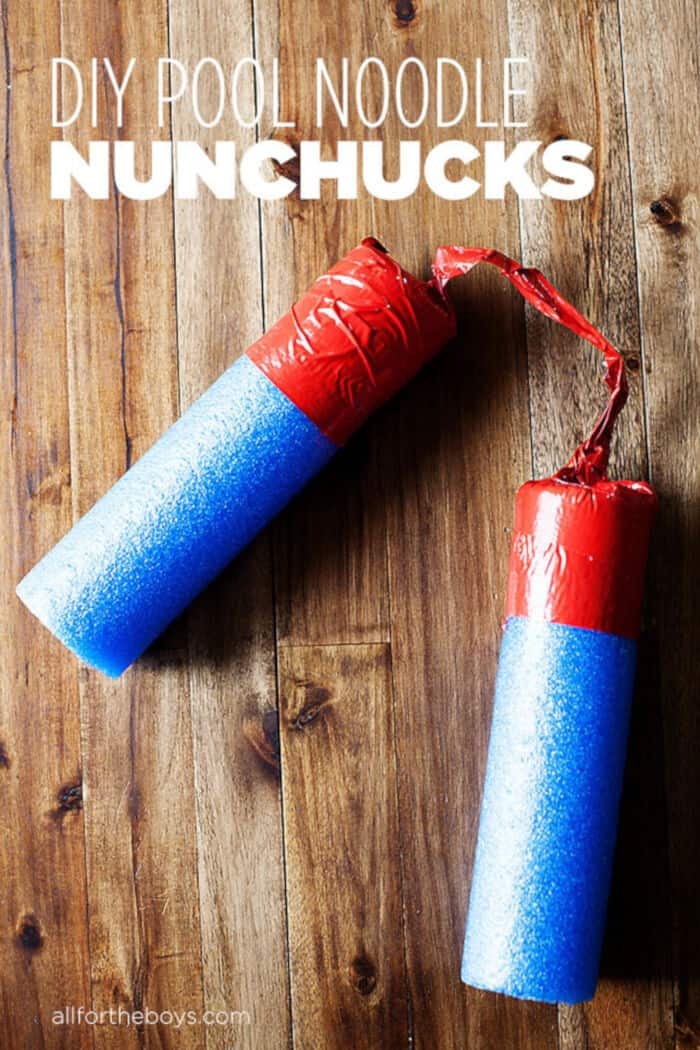 DIY Pool Noodle Nunchucks by All For The Boys