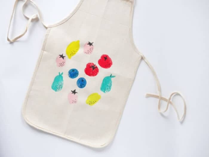 DIY Potato Stamped Apron for Kids by Hello Wonderful