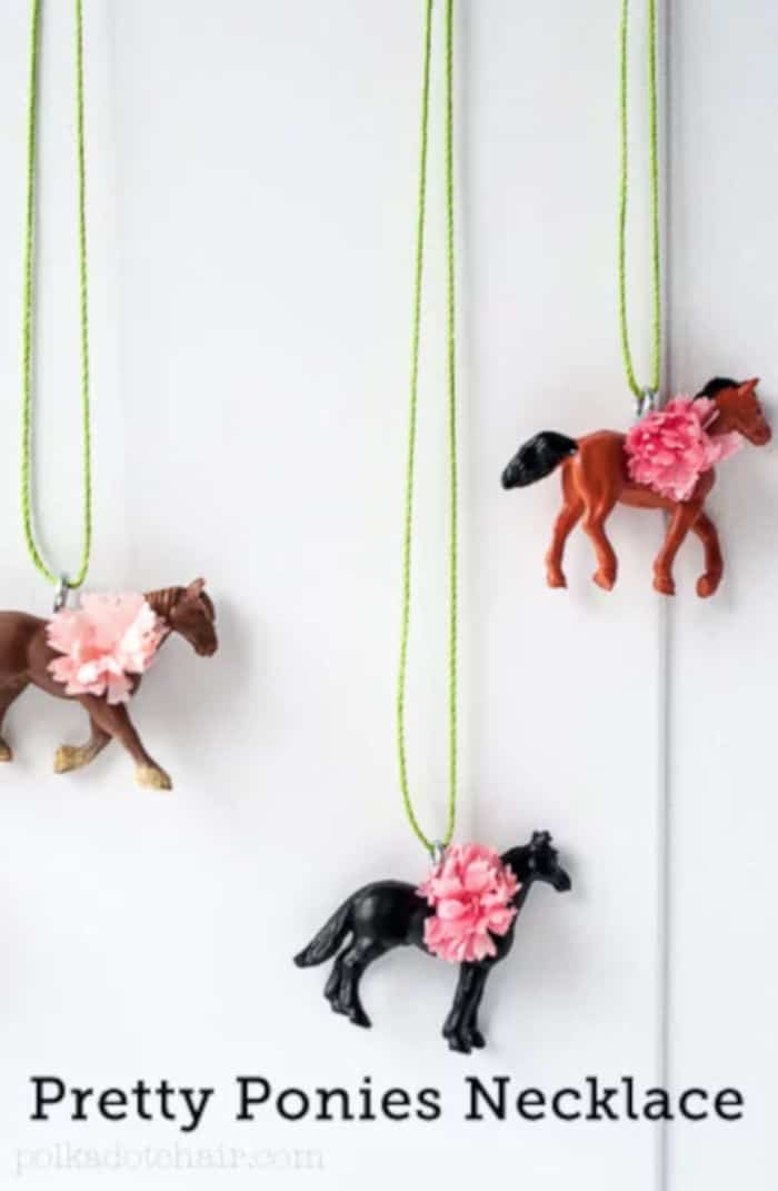 DIY Pretty Ponies Necklace by Polkadot Chair