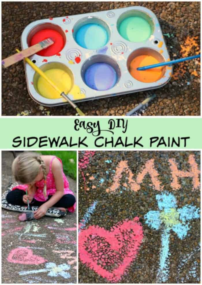 DIY Sidewalk Chalk Paint for Kids by Make and Takes