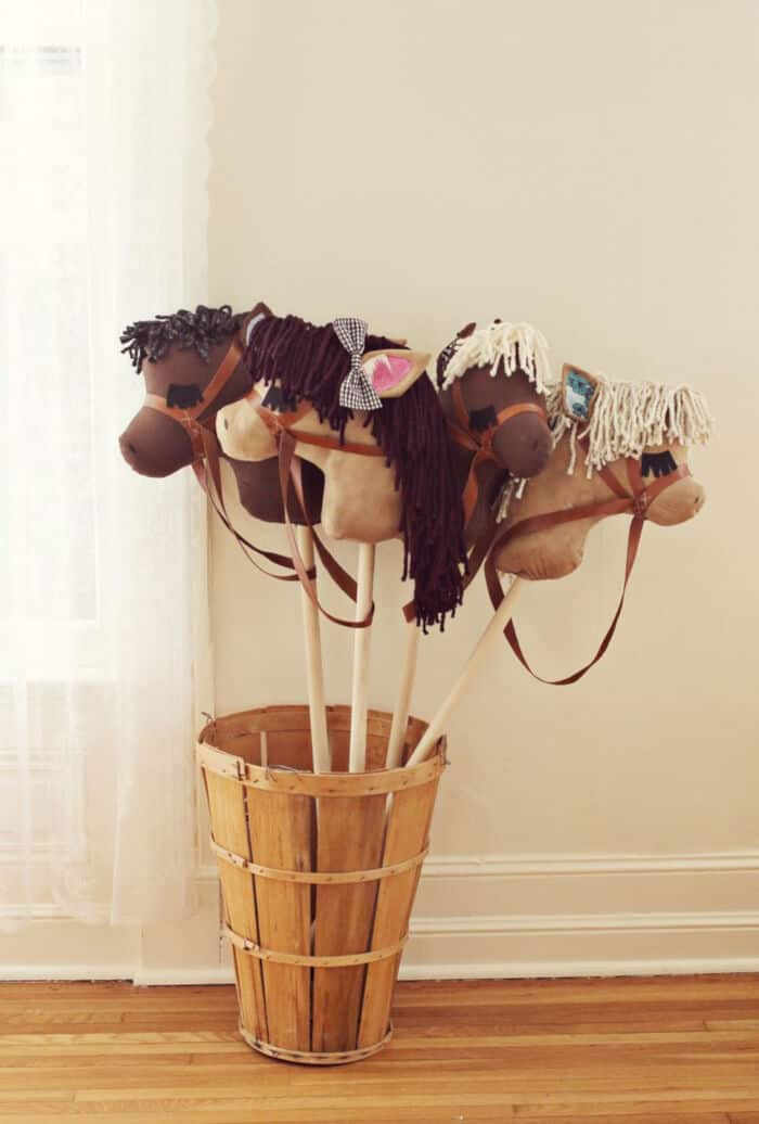 DIY Stick Horses by A Beautiful Mess