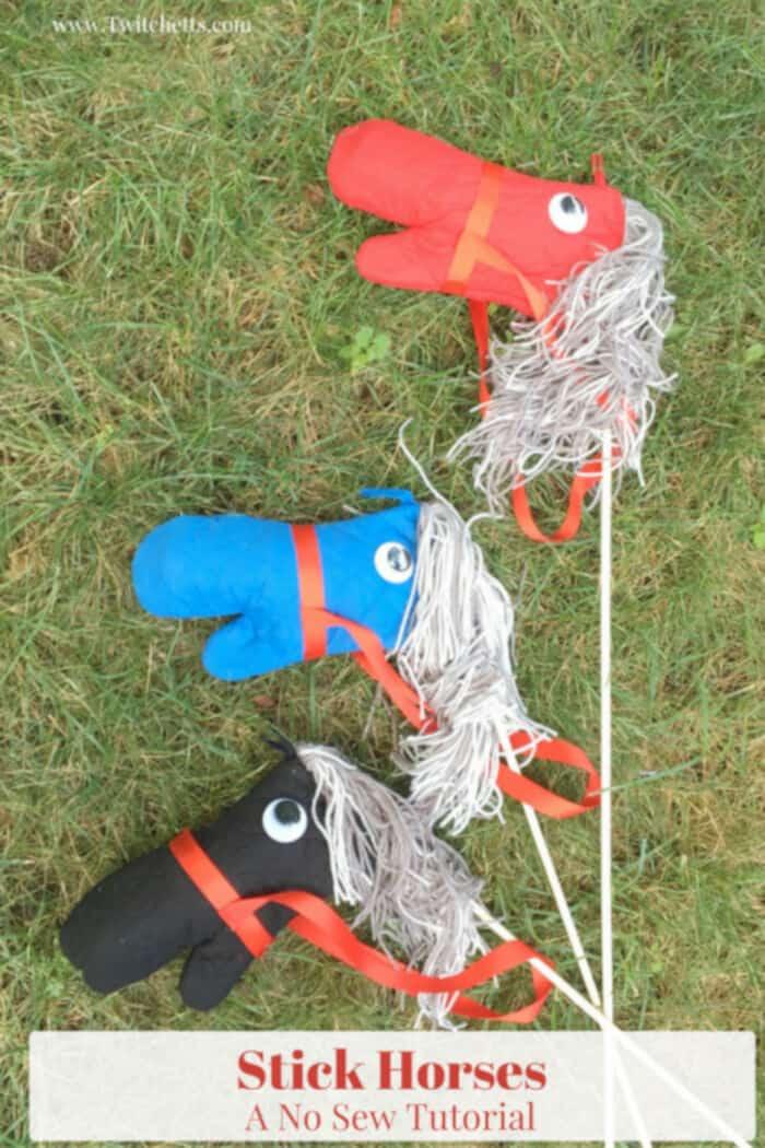 DIY Stick Horses by Twitchetts