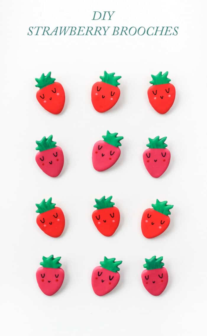 DIY Strawberry Brooch by The Crafted Life