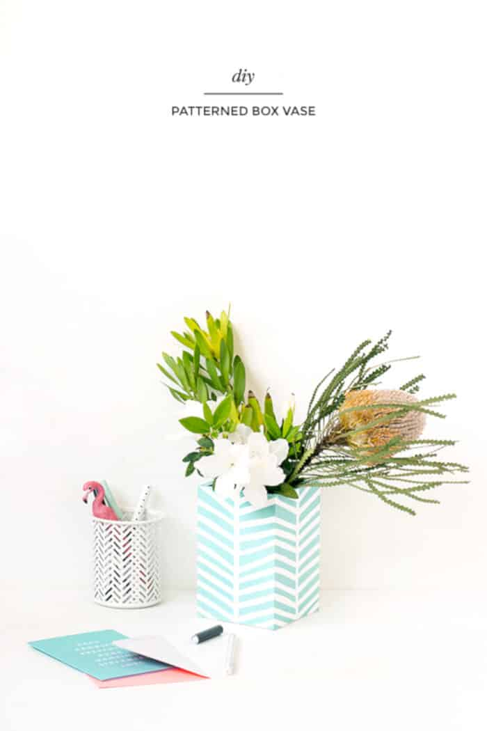 DIY patterned box vase by Make and Tell
