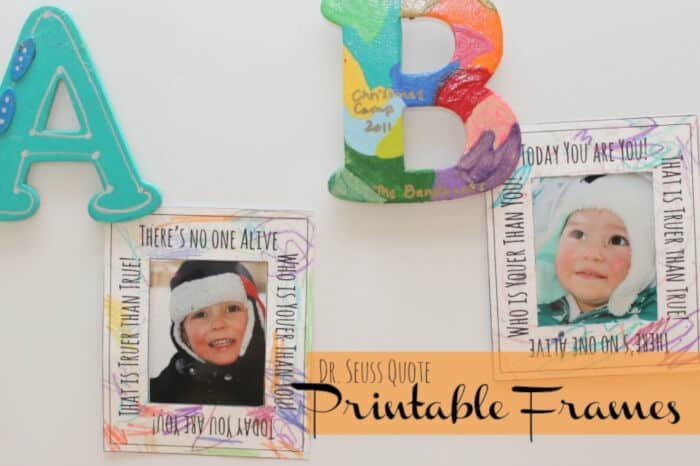 Dr. Seuss Color-able Picture Frame by Catholic Sprouts