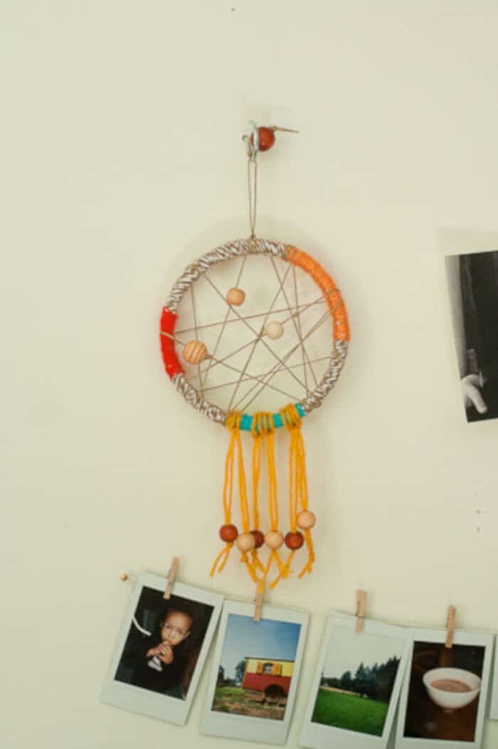 Dreamcatcher with Bakers Twine and Yarn by Make and Takes