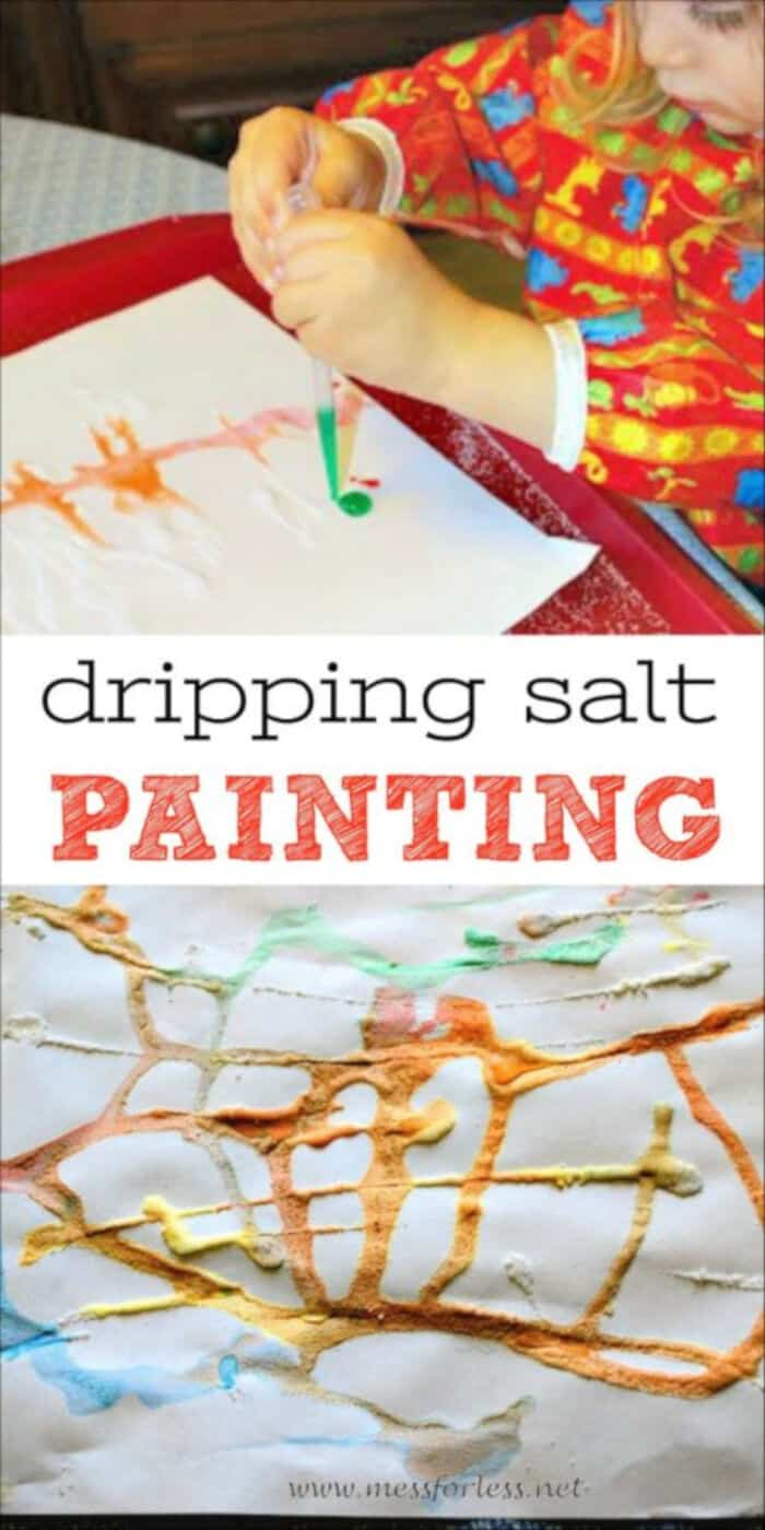 Dripping Salt Painting by Mess for Less