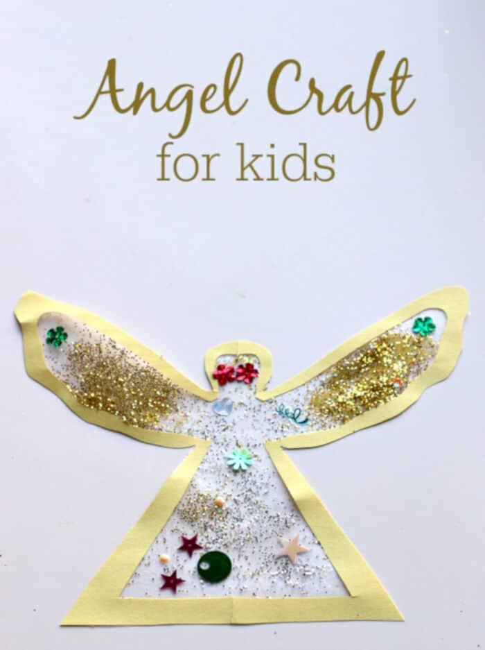 Easy Angel Craft For Preschool by No Time For Flash Cards