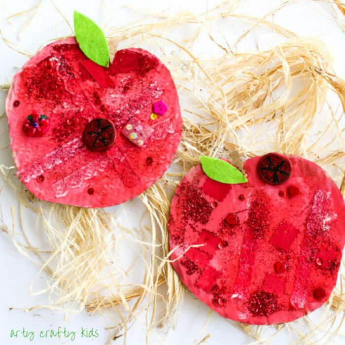 Easy Apple Collage Craft by Arty Crafty Kids