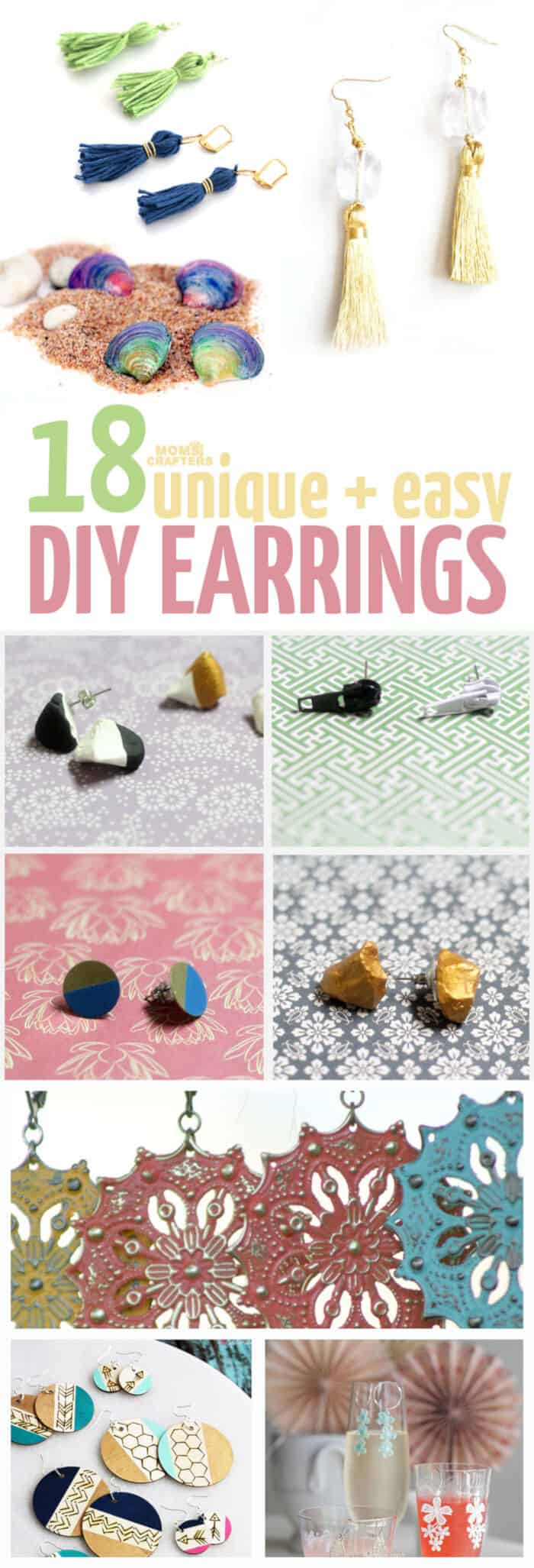Easy DIY Earrings Ideas by Moms and Crafters