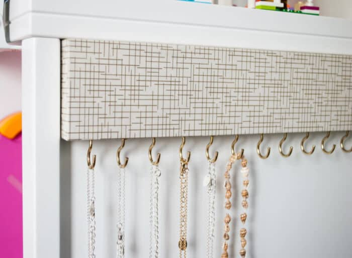 Easy DIY Jewelry Organizer for Tangle-Free Necklaces by Merriment Design