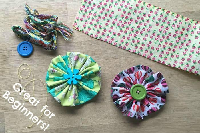 Easy Fabric Flowers by Red Ted Art