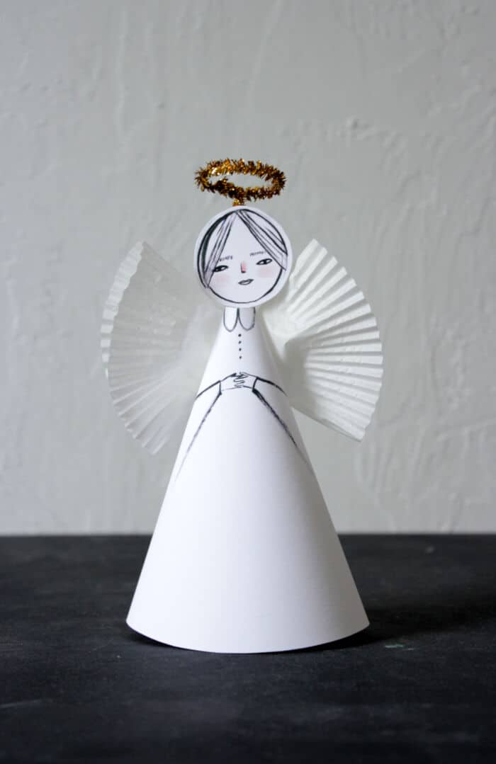 Easy Paper Angel Craft by Mer Mag