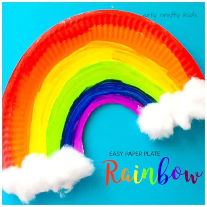 Easy Paper Plate Rainbow by Arty Crafty Kids