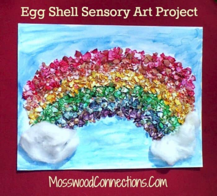 Egg Shell Sensory Art Project by Mosswood Connections