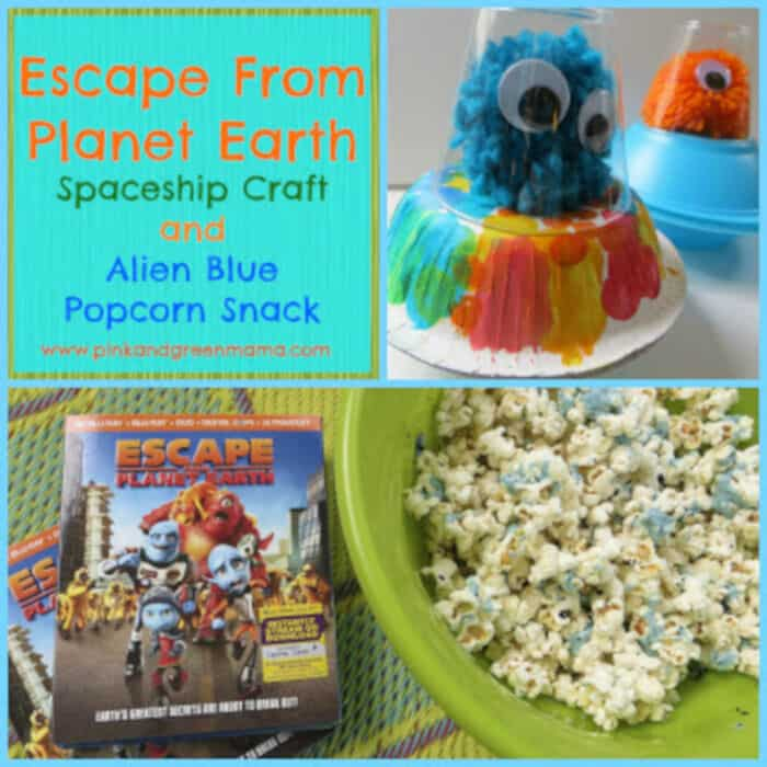 Escape From Planet Earth Alien Spaceship Craft and Snack by Pink and Green Mama