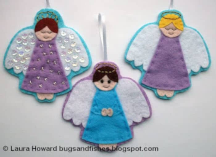Felt Angel Ornament #1 by Bug and Fishes by Lupin