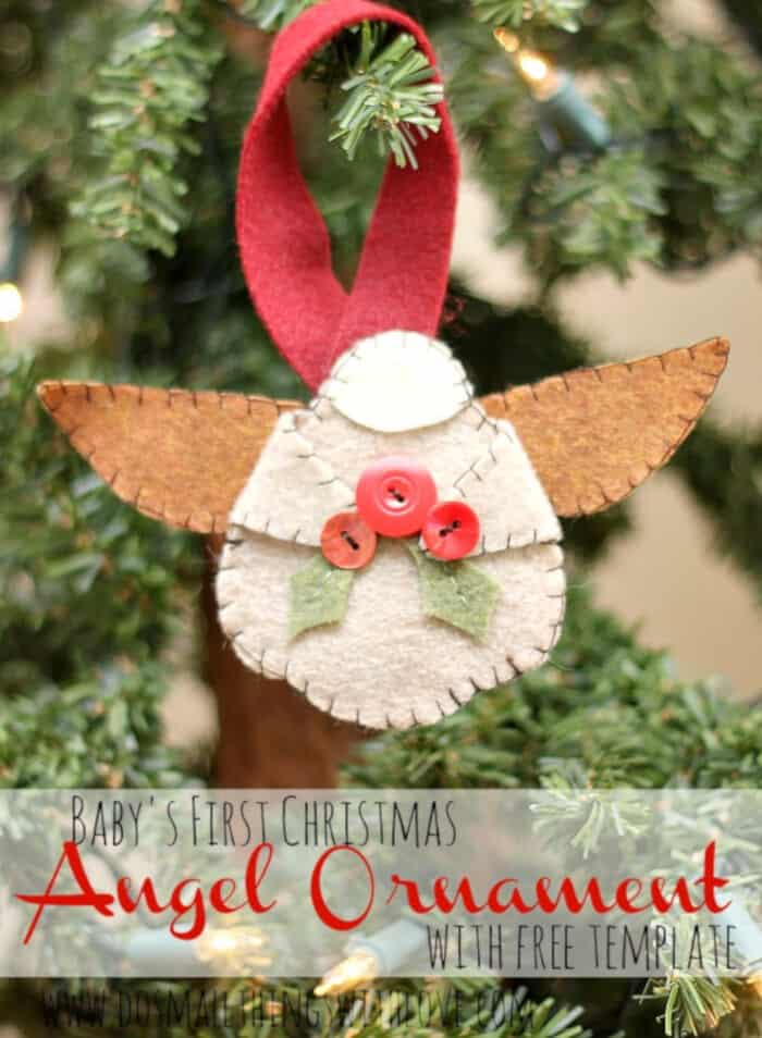 Felt Angel Ornament by Catholic Sprouts