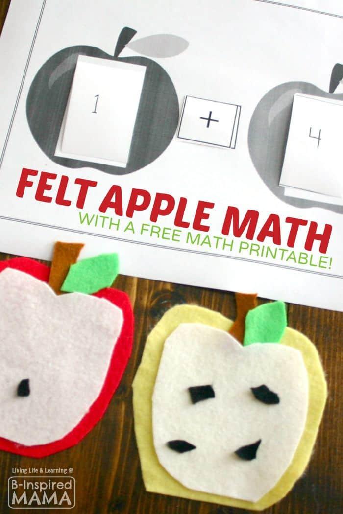 Felt Apple Math by B-Inspired Mama