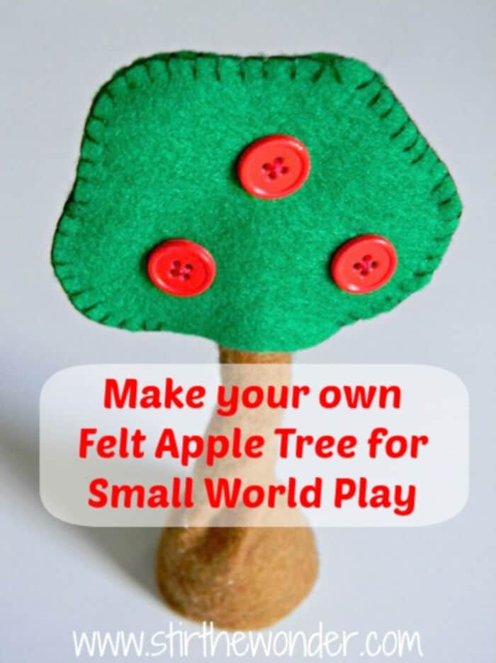 Felt Apple Trees for Small World Play by Stir The Wonder