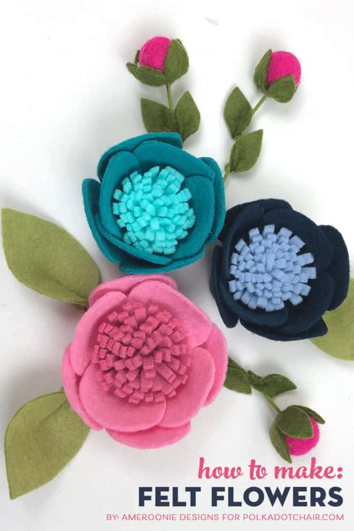 Felt Flowers by Polkadot Chair