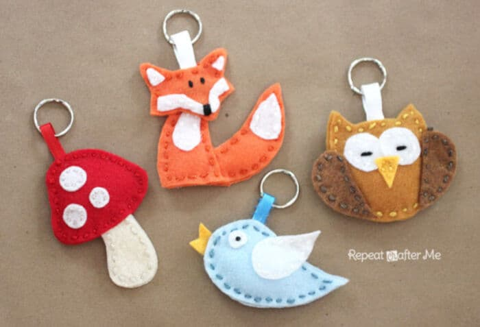 Felt Forest Friends Keychains by Repeat Crafter Me