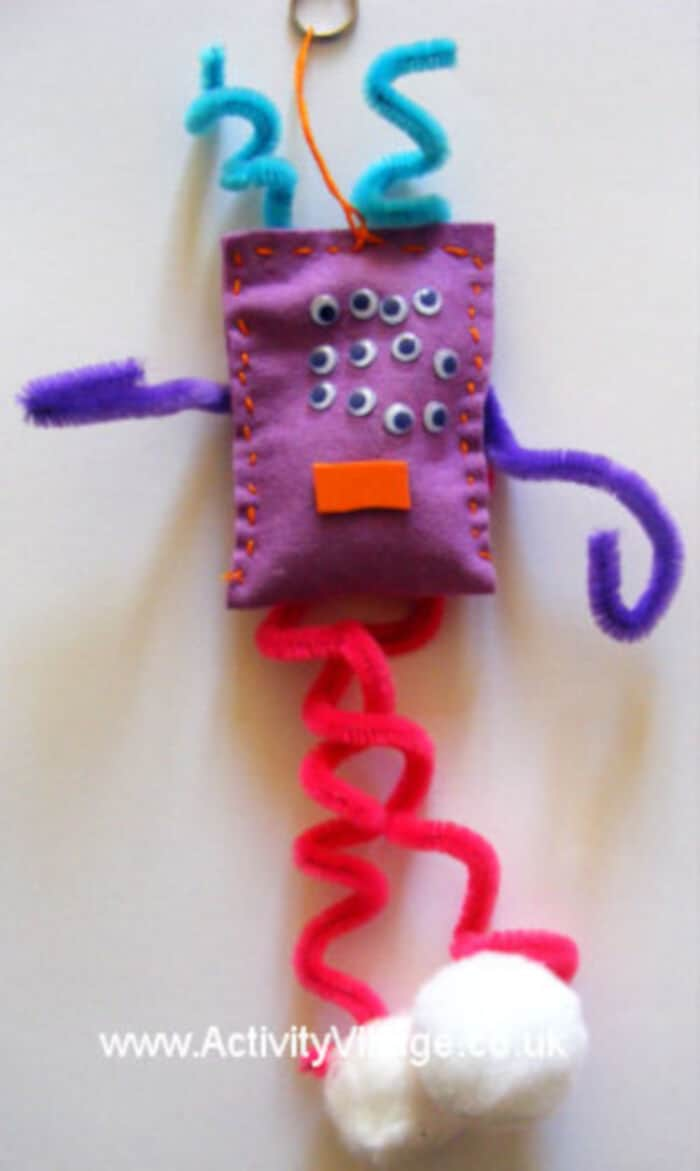 Felt Monster Dangle Craft by Activity Village