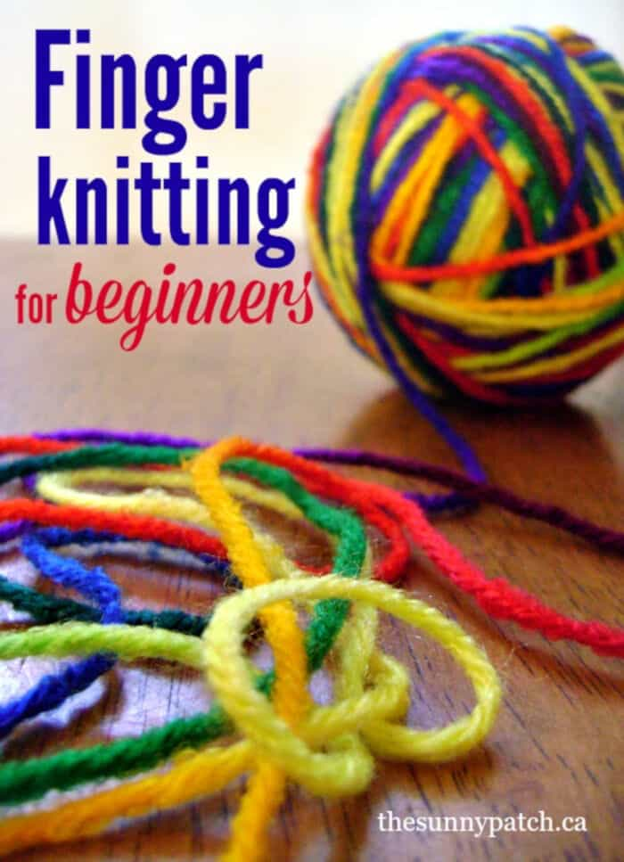 Finger Knitting for Begginers by Happy Homeschool Nest
