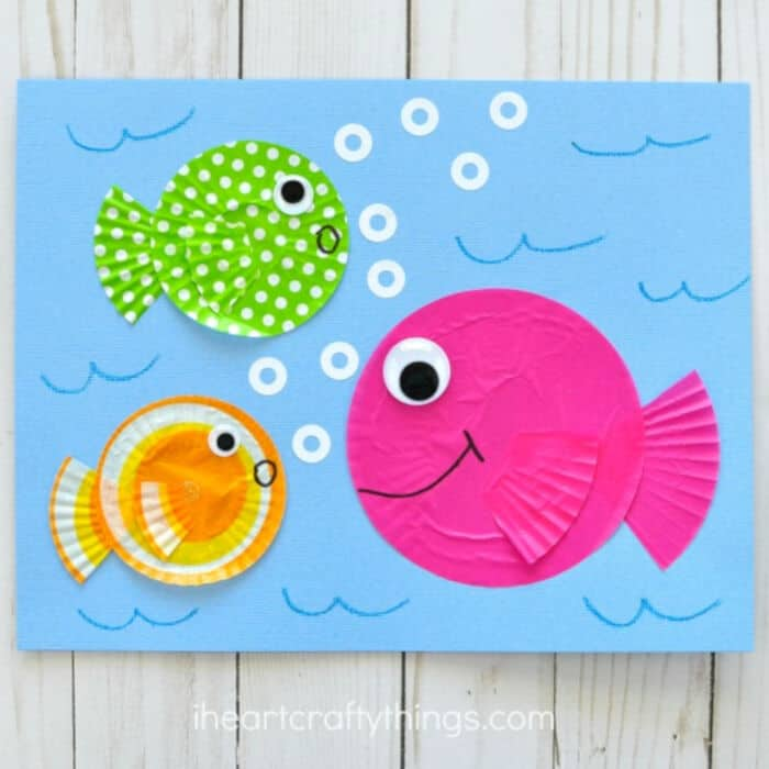 Fish Kids Craft out of Cupcake Liners by Happiness Is Homemade