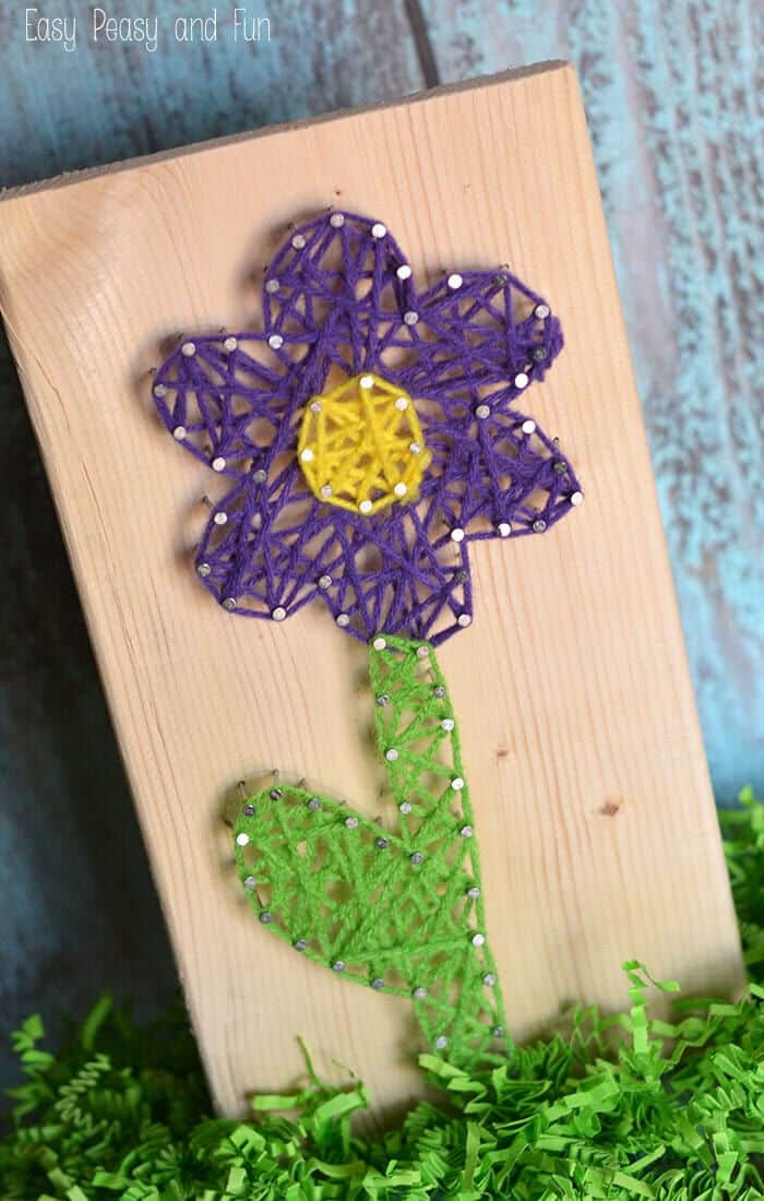 Flower String Art by Easy Peasy and Fun