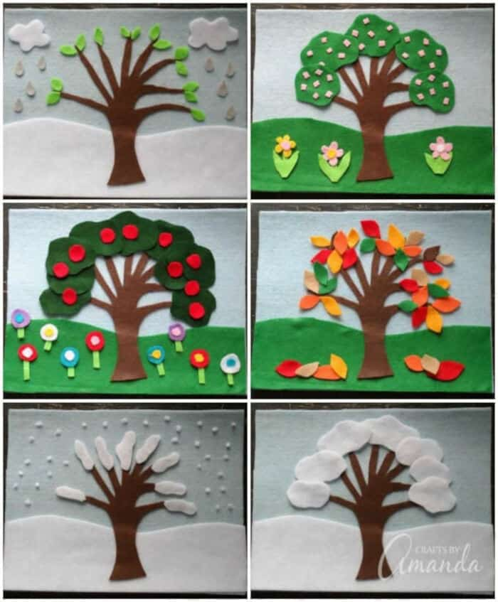 Four Seasons Felt Board by Crafts by Amanda