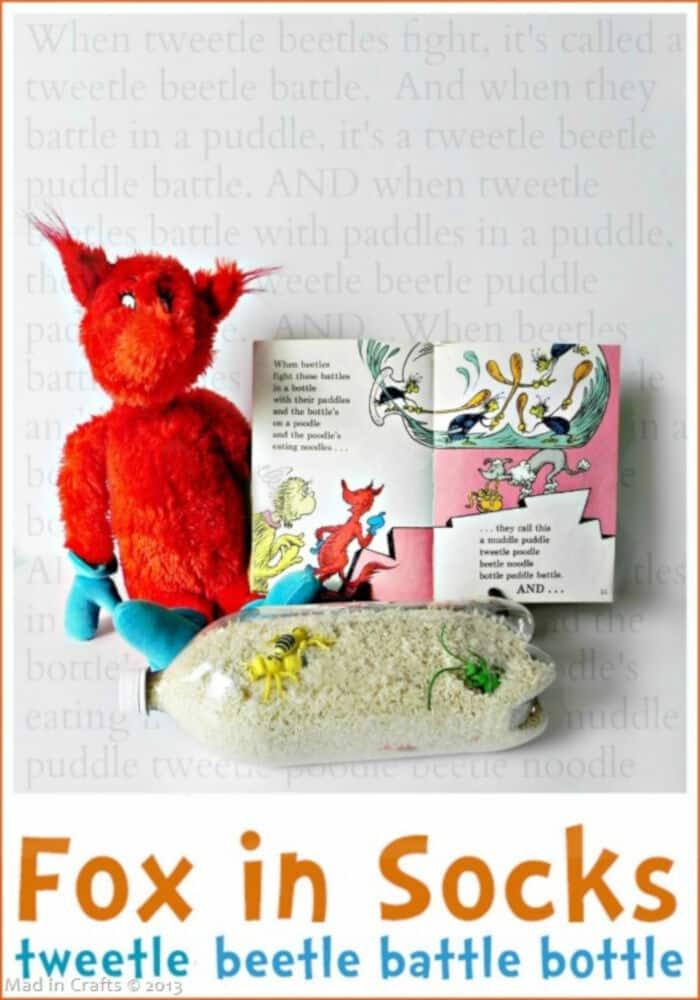 Fox in Socks Tweetle Beetle Battle Bottle by Mad In Crafts