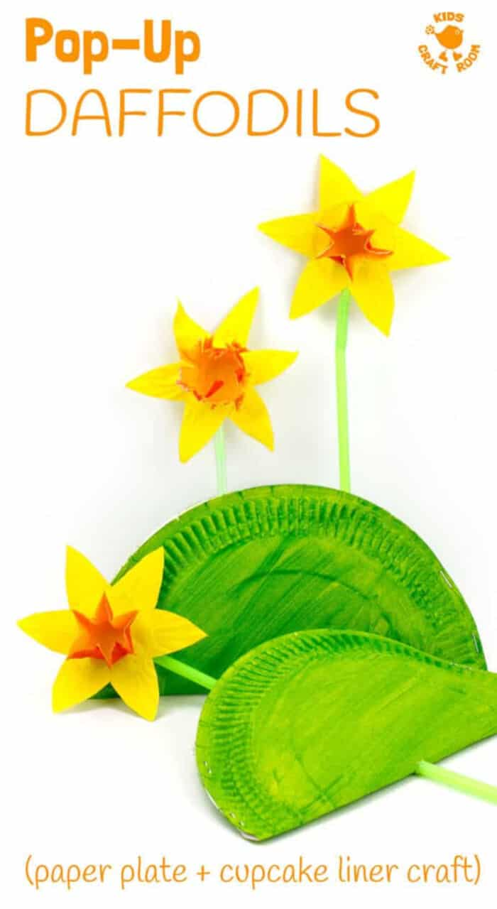 Fun Pop Up Daffodil Craft by Kids Craft Room