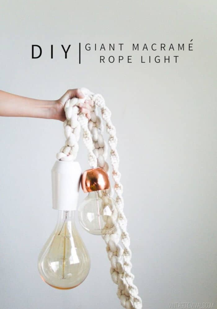 Giant Macramé Rope Lights by Vintage Revivals
