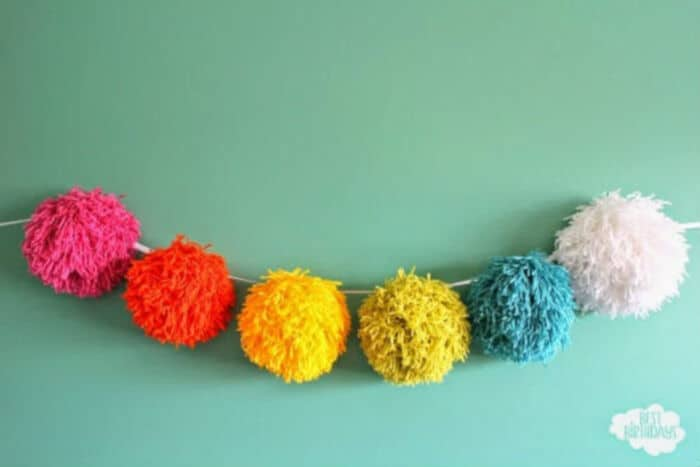 Giant Pom Pom Garland by Merry About Town