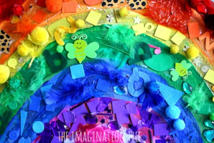 Giant Rainbow Collage by The Imagination Tree