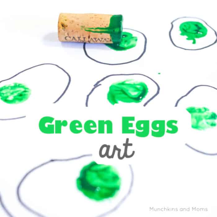 Green Eggs and Ham Art by Munchkins and Moms