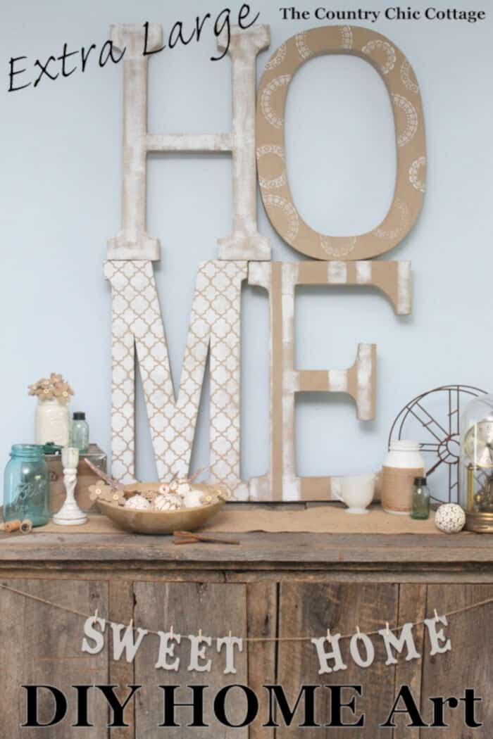 HUGE Wall Art on a Budget by The Country Chic Cottage