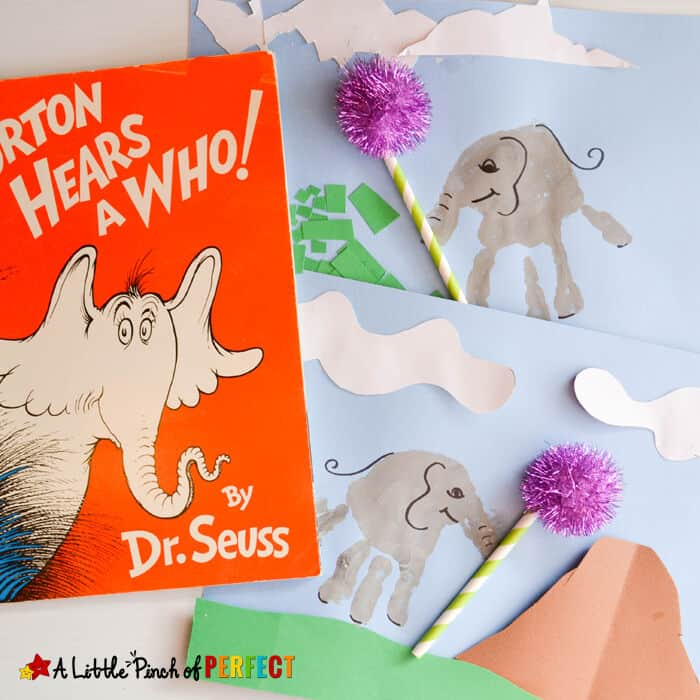 Handprint Horton the Elephant Craft with Dr. Seuss by A Little Pinch of Perfect