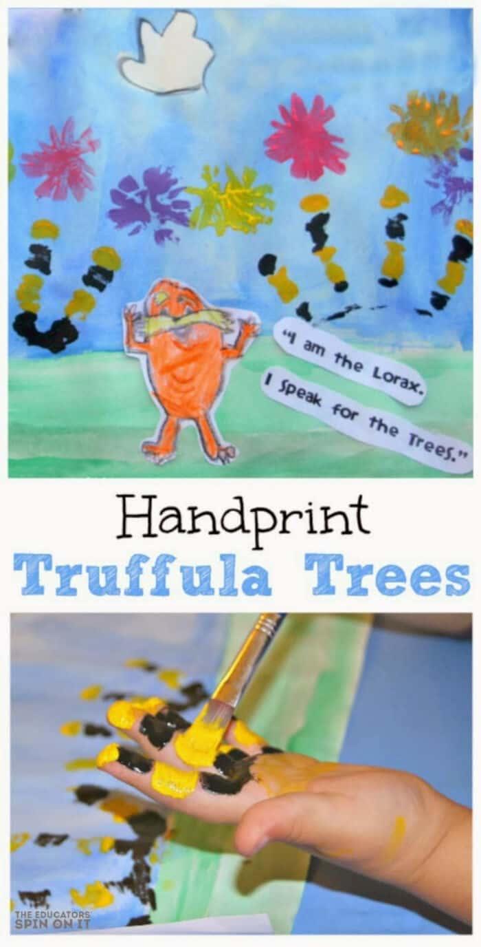 Handprint Truffula Trees by The Educators Spin On It