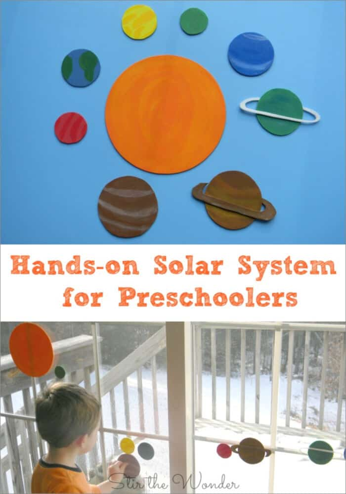 Hands-on Solar System for Preschoolers by Stir The Wonder
