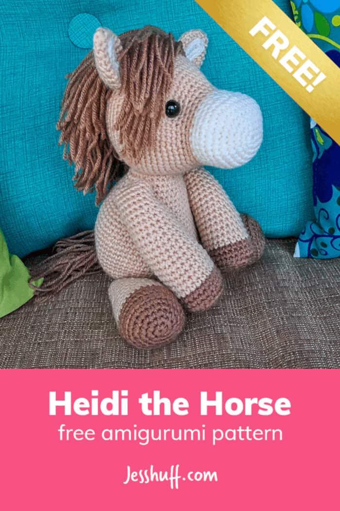 Heidi The Horse Free Amigurumi Pattern by Jess Huff
